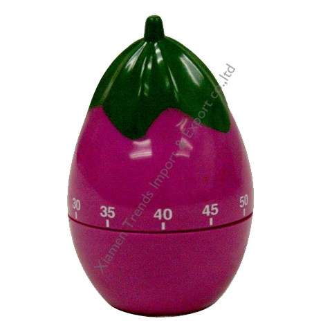 Promotional Eggplant Shape Timer, Eggplant mechanical Timer