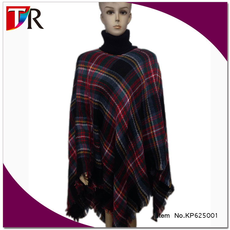 alibaba wholesale latest style ladies pashmina blanket winter poncho with a turtleneck