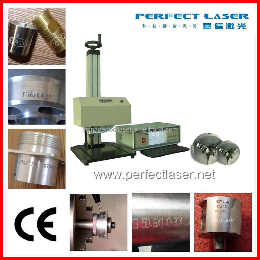 Rotary device included Dot Peen Marking Machine for flat and curve