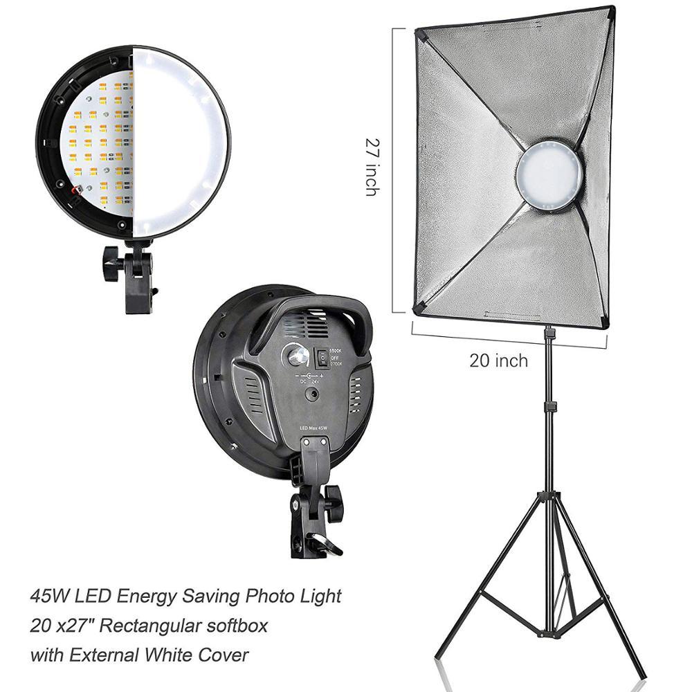 20x27'' Rectangular Continuous Lighting Softbox Kit Studio Light Softbox