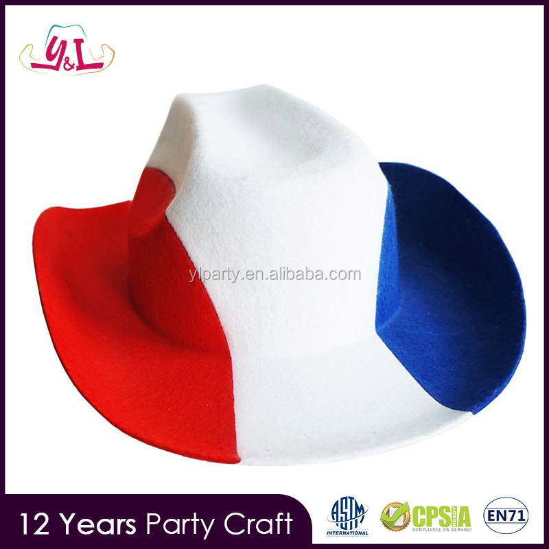 Hot 2016 Promotional Product Mold Hat World Cup Football 2014 Cowboy Hat Wool Felt
