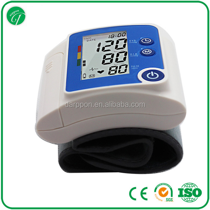 hospital medical electronic wrist blood pressure monitor with voice/home use blood pressure monitor 165