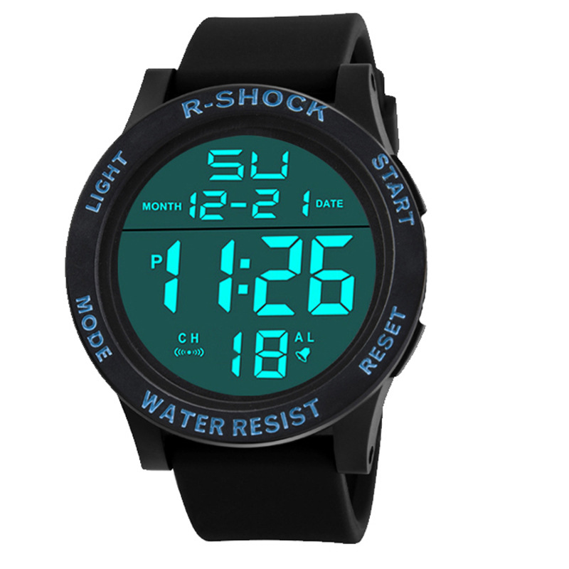 Wholesale Multi-Function Water Silicone Men Wristwatches Alarm Led Digital Sport Watch