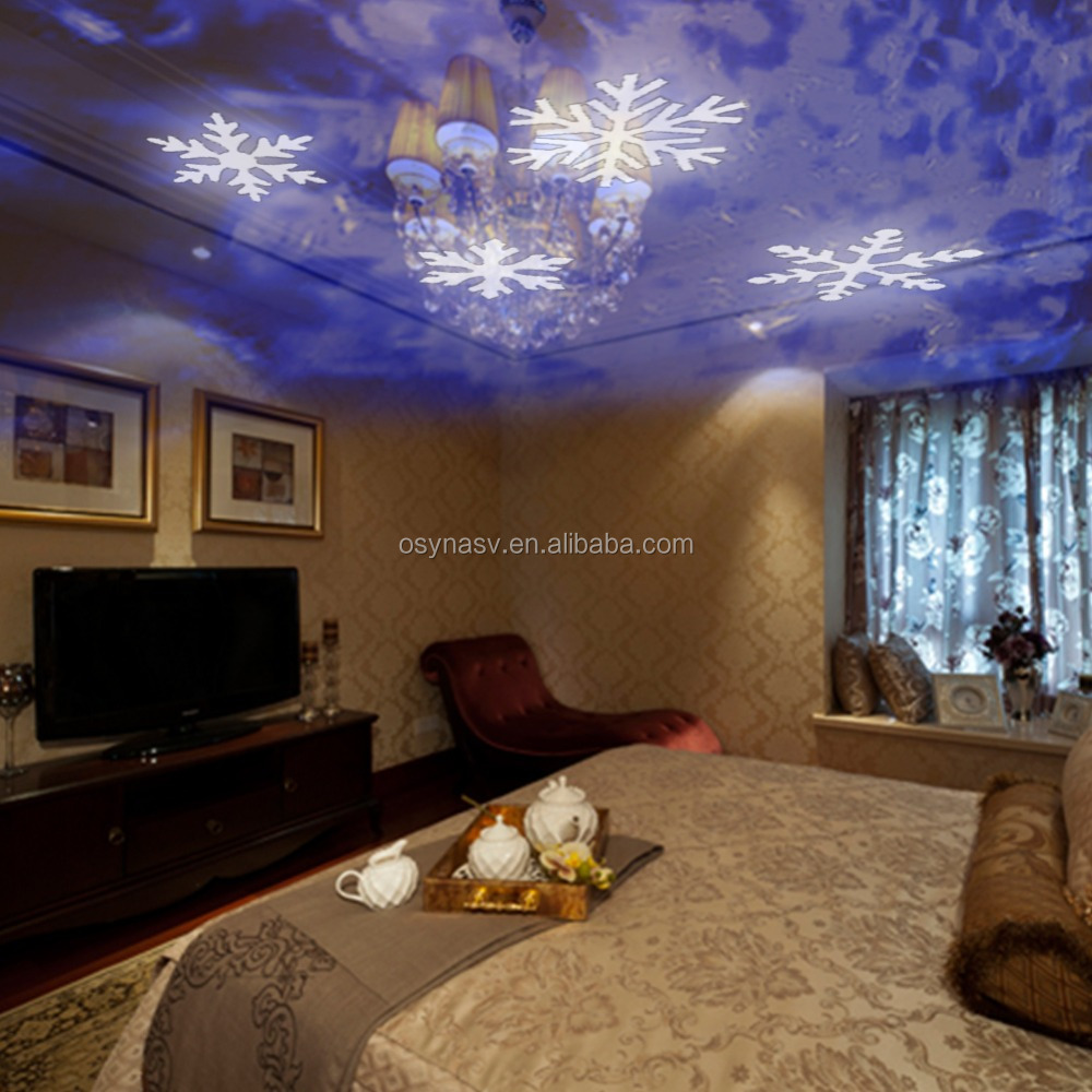 LED MINI Light Easily Decorate Room for Christmas Holiday LED Light Snowflakes Projection Lamp