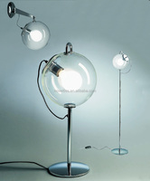 Simple design Transparent hand blown Glass decorative Floor Lamp