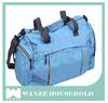 2017 china new product factory price customized ployester large blue travel set bag with handle