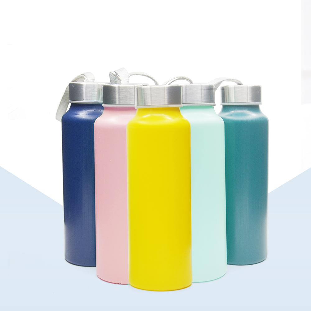 Bpa free Corona plastic sports drinks cylindrical boba water bottle