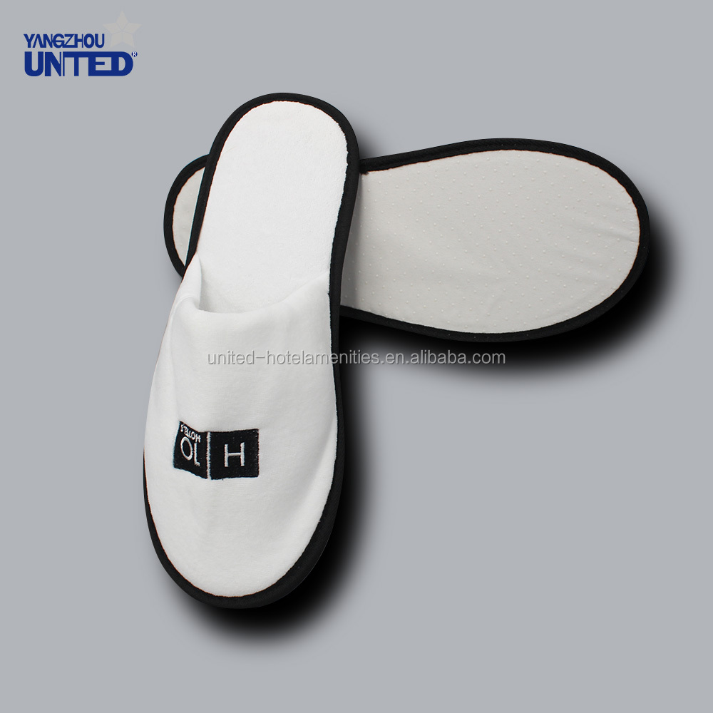 White thick sponge sole hard thick sole sole indoor women soft sole hotel slippers