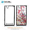 Latest 2D Sublimation Mobile Phone Cover for Sony Xperia T2, Sublimation Blanks