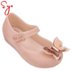 Plastic gold jelly bean ballet shoe