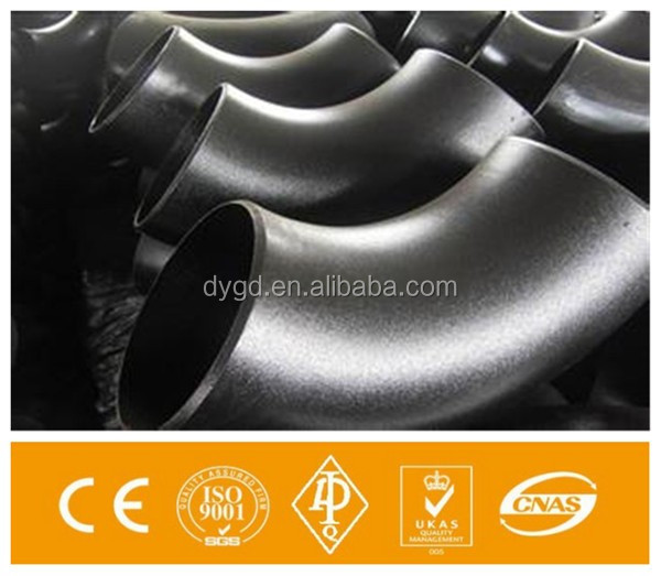 ASME B16.9 carbon steel pipe fittings elbow butt welded astm a234 wpb b16.1 /pipe fittings