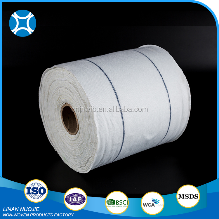 China Factory Supply Absorbent Microfiber All Purpose Non Woven Wipes Roll