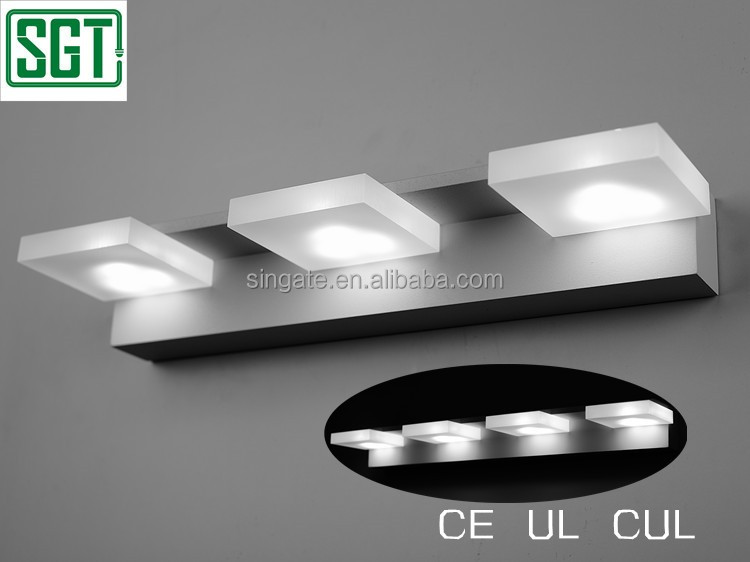 CE UL CUL 9w 12w discount hotel wall lamps led bathroom mirror with light