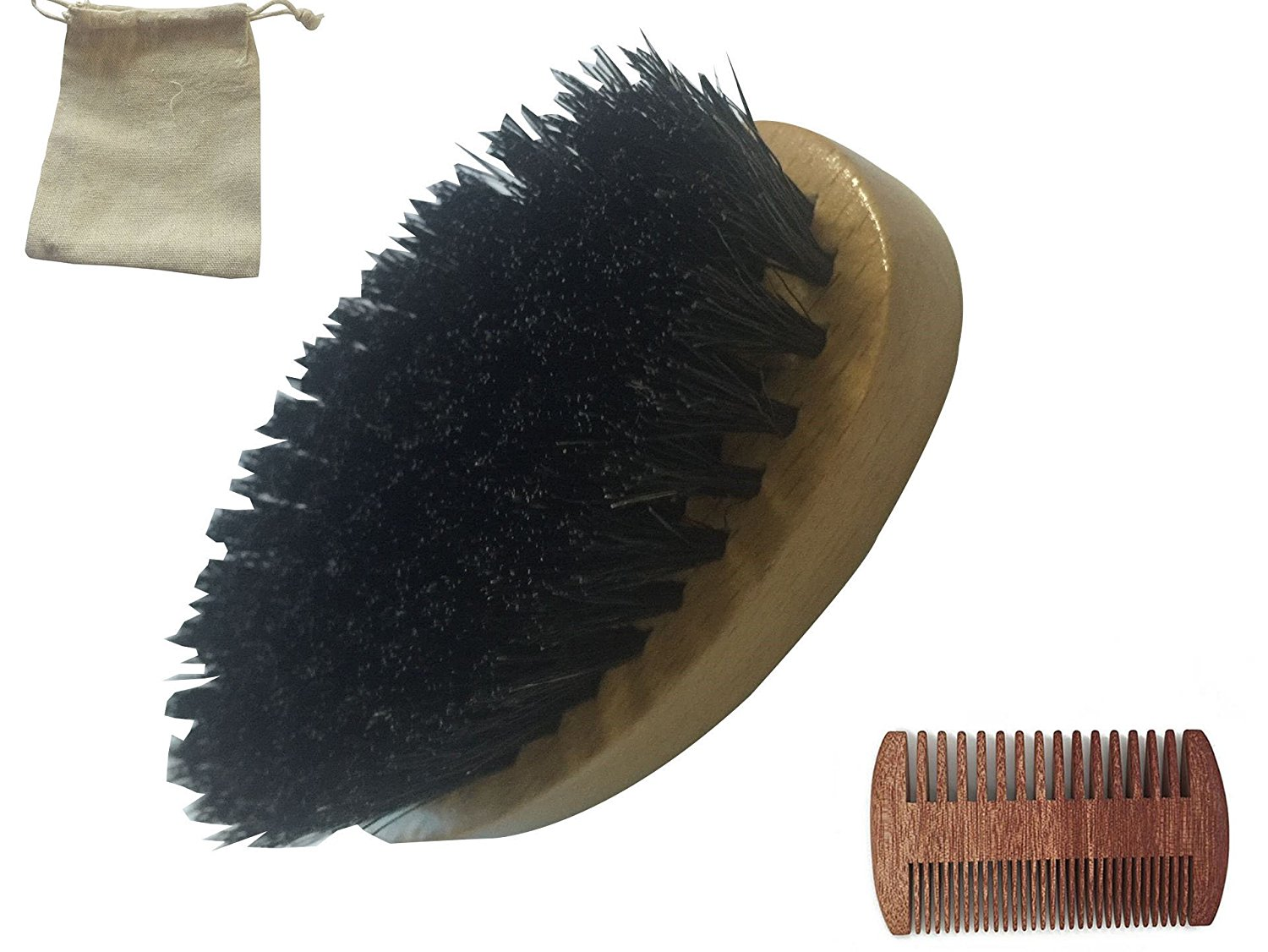 Reasonable Soft Men Beard Comb Pocket Size Bristle Beard Brush Hairdresser Cleaner Brush Pocket Beard Comb Cleaner Brush Shaving & Hair Removal