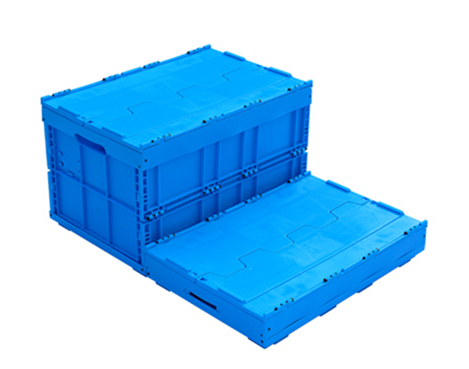 plastic folding collapsible moving storage box with lid