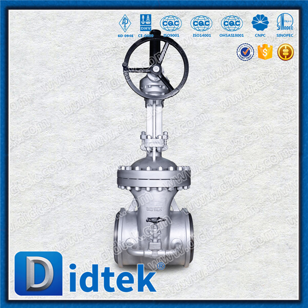 Didtek Industrial Worm Gear Operated Stainless Steel Flange Stem Gate Valve