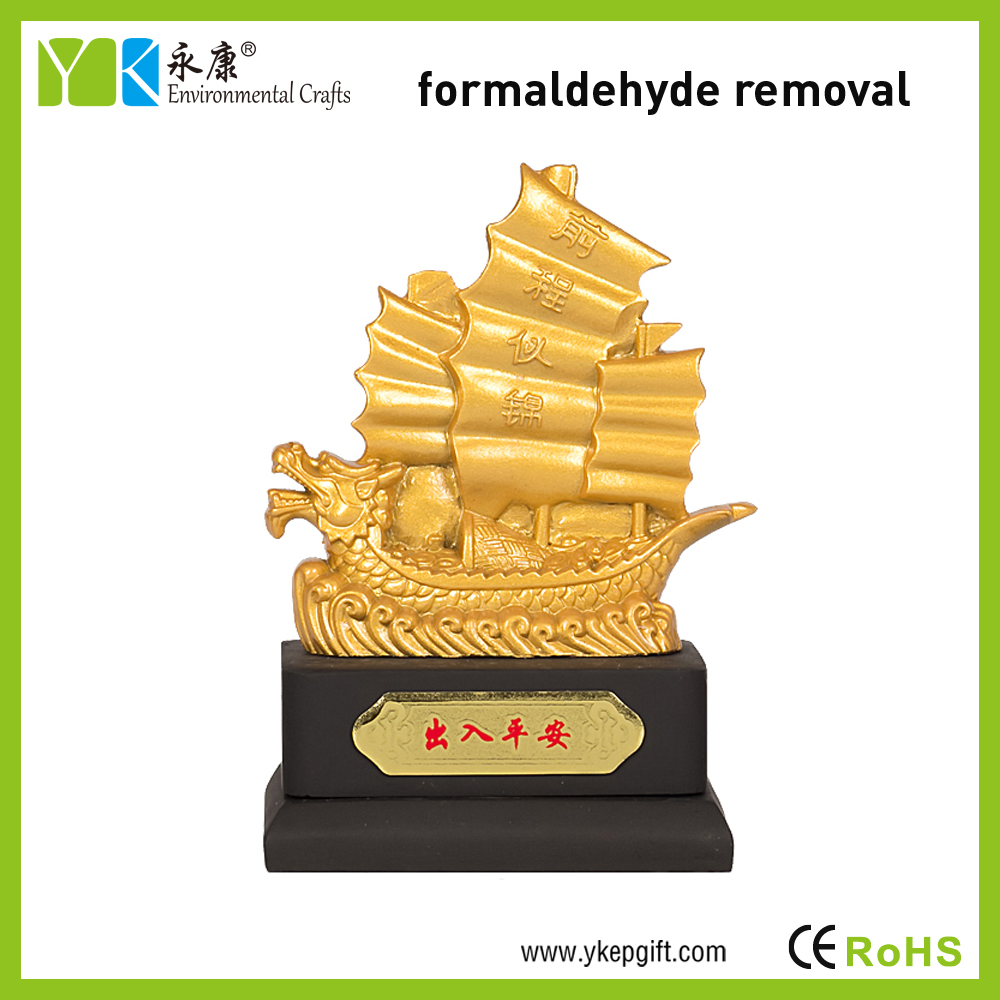 Creative Golden Boat 3d Shape Activated Carbon Personalized Car ...