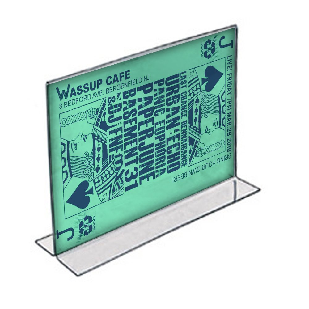 Azar 152707 14-Inch Width by 8.5-Inch Height Horizontal Double Sided Stand Up Acrylic Sign Holder, 10-Pack
