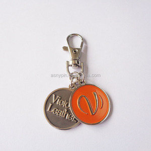 European Standard size two coin custom your own logo shopping trolley coin