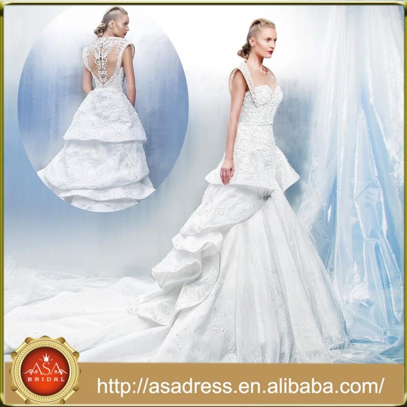 Mms1 Fashion Style Exquisite Bridal Gown Low Waist Beading Dubai ...
