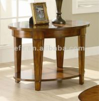 Oval End Table w Shelf in Cherry Finish (EFS-A-T99)