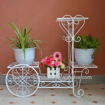 Handicraft Patio Porch Indoor Outdoor Decor Wrought Iron Flower