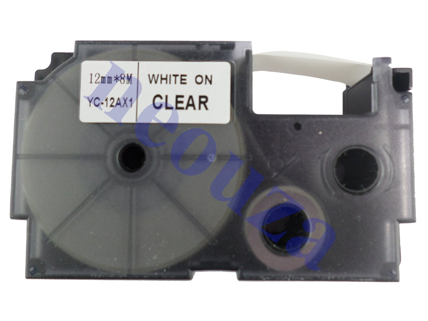 Compatible for Casio EZ-Label Tape 12mm White on Clear XR-12AX1 8m LABEL IT!