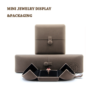 Hand Made Folding Ring Jewelry BoxLuxury Jewelry Box Packaging For