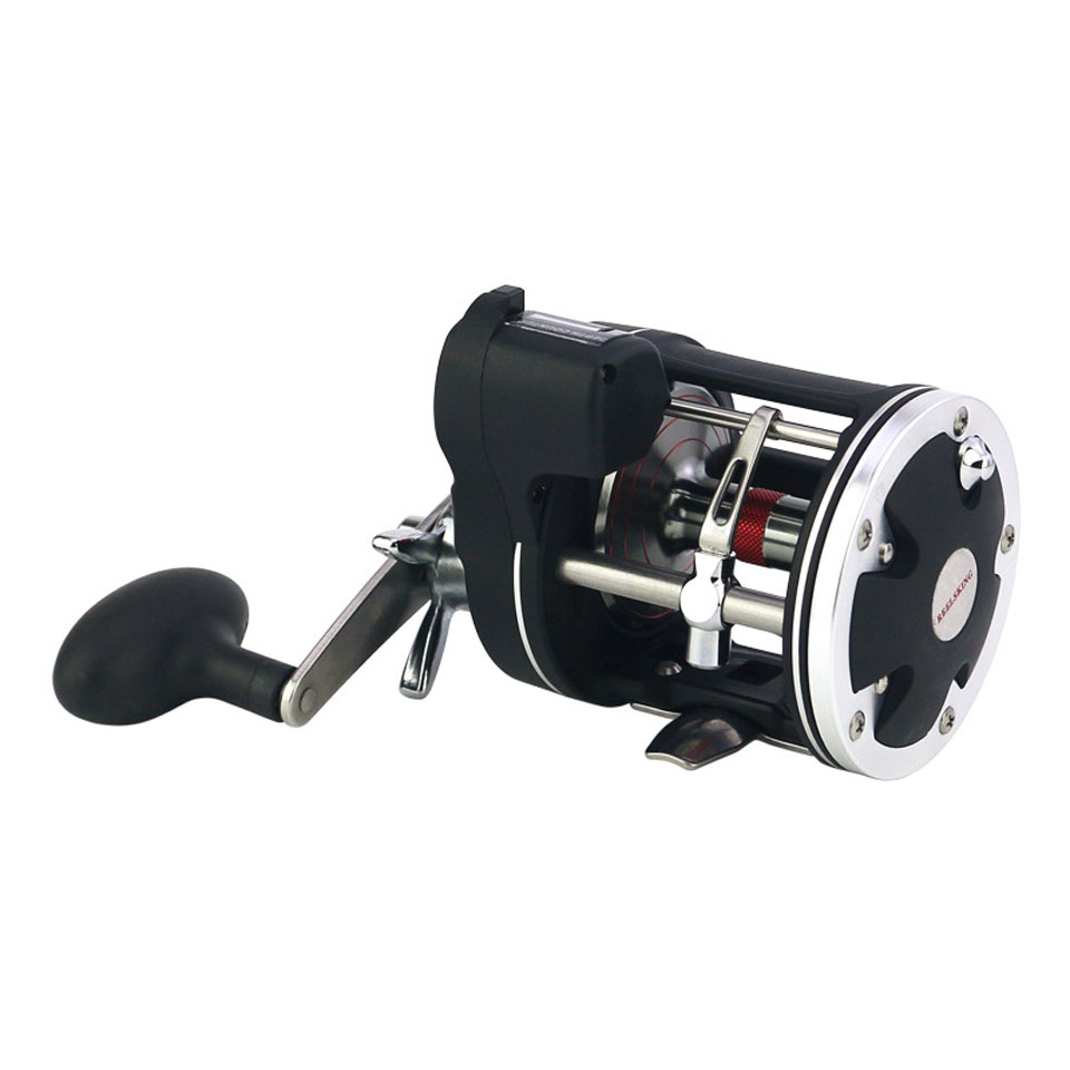 High-quality 12BB Bait Casting Sea Saltwater Electric Fishing Reel With Line Counter, Black