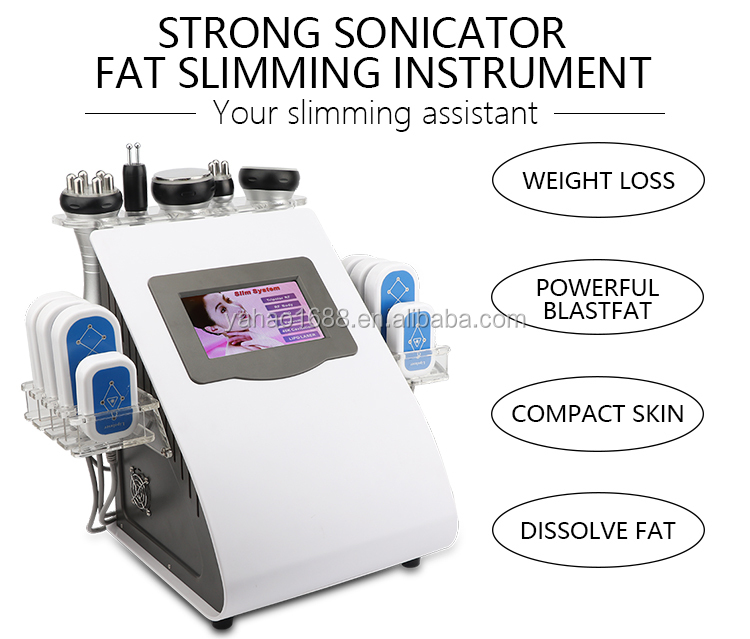 2018 Ultrasonic Liposuction Equipment Cavitation Kim 8 System Price / Slimming Machine