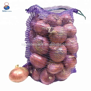 Vegetable red onion plastic poly mesh bags