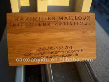 Gravieren Sie Hölzerne Visitenkarte Buy Holz Visitenkarte Gravur Holz Visitenkarte Bambus Handwerk Product On Alibaba Com