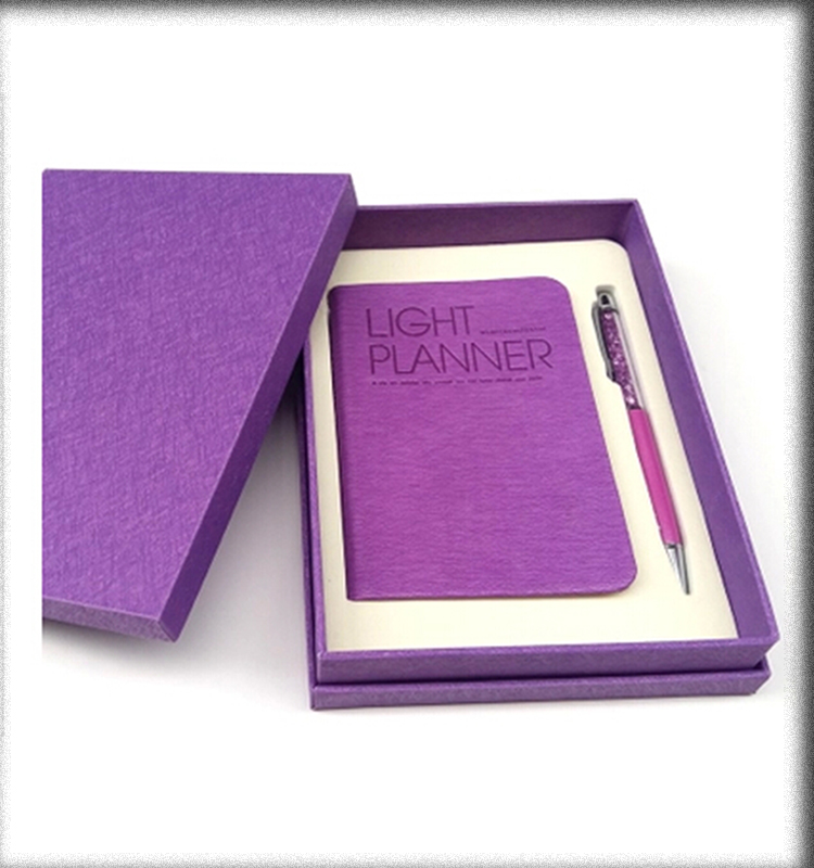 10 colors available purple classic gift Notebooks wite ball pen gift sets