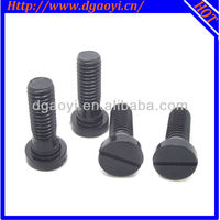 cheese slotted head slotted black finish stairs screws