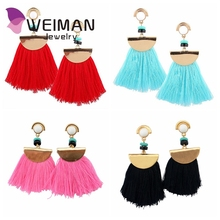 2017 Fctory direct wholesale handmade cheap bohemian pretty elegant boho tassel earrings for party
