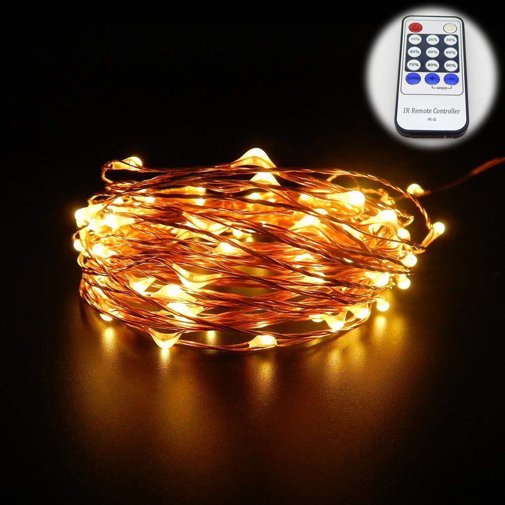 7 color 50m 164ft 500 led copper wire led string light. Black Bedroom Furniture Sets. Home Design Ideas