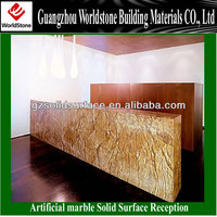 Artifical Marble Furniture Hot Sale Hotel Reception Desk