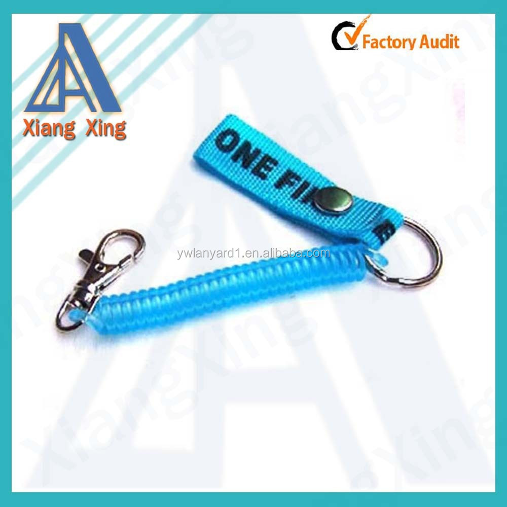 Customized spring keychain with short lanyard