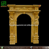 Arch Style Yellow Marble Stone Door Frame