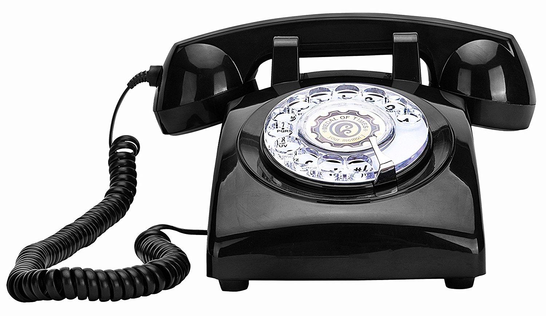 Rotary Dial Telephones Sangyn 1960'S Classic Old Style Retro Landline Desk Telephone,Black