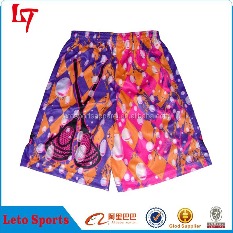 lacrosse wear shorts girls boys sublimated army lacrosse trousers bubble pattern mens beach shorts