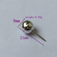 Silver Color 21mm ball head map push pin for marking