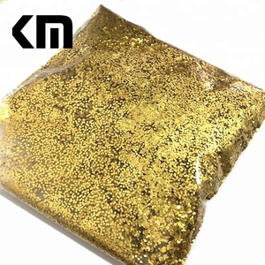 High Quality Wholesale High Temperature Resistant Metal Aluminum Gold Glitter for Plastic