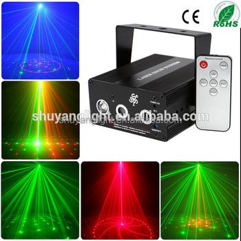 Mini Proiettore Effetto Luci Laser Per Disco Discoteca Dj.Mini Rosso Verde A Comando Vocale Moving Partito Fase Proiettore Di