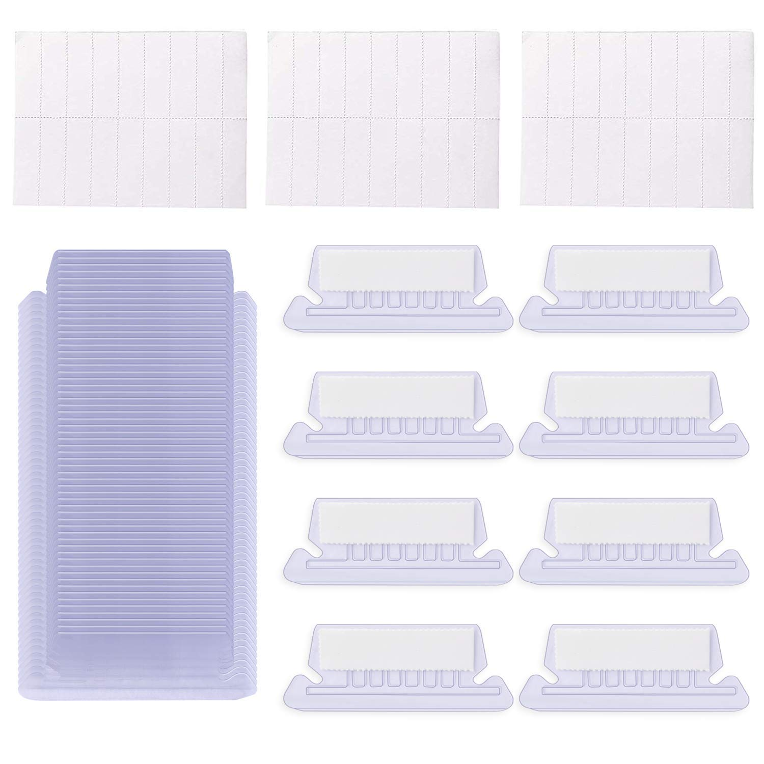 Hanging File Folder Tabs - 200 Sets Insertable Quick Identification Plastic Hanging Folder Tabs - 2 inch Hanging File Inserts File Folder Labels