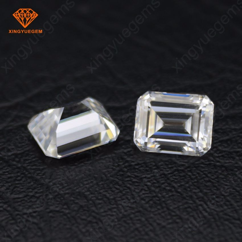 Wholesale emerald cut def color white loose moissanite diamond