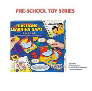 plastic fractions learning puzzle game toyQS120505178