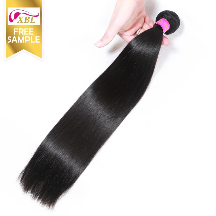 Free sample hair bundles wholesale virgin brazilian hair bundles,On Sale Double Machine Wefted hair extensions for white women