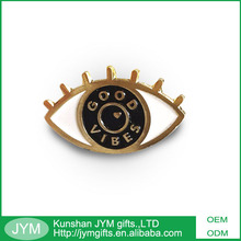 Black nickel plating customized eyes shape enamel metal pin badge
