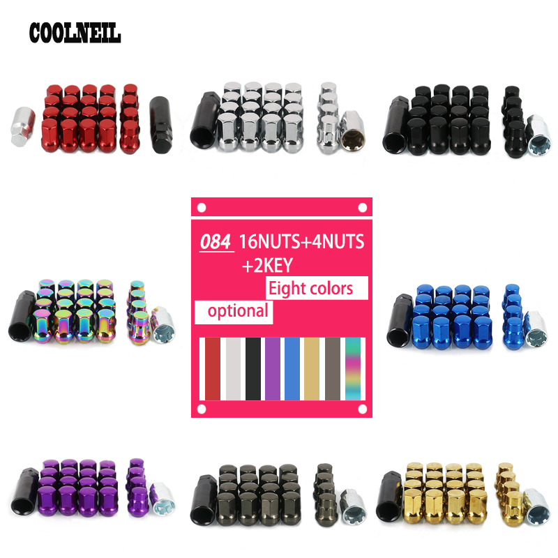 Colored High Strength Wheel Lock Nut Standard,  Anti Theft Tire Lug Nuts